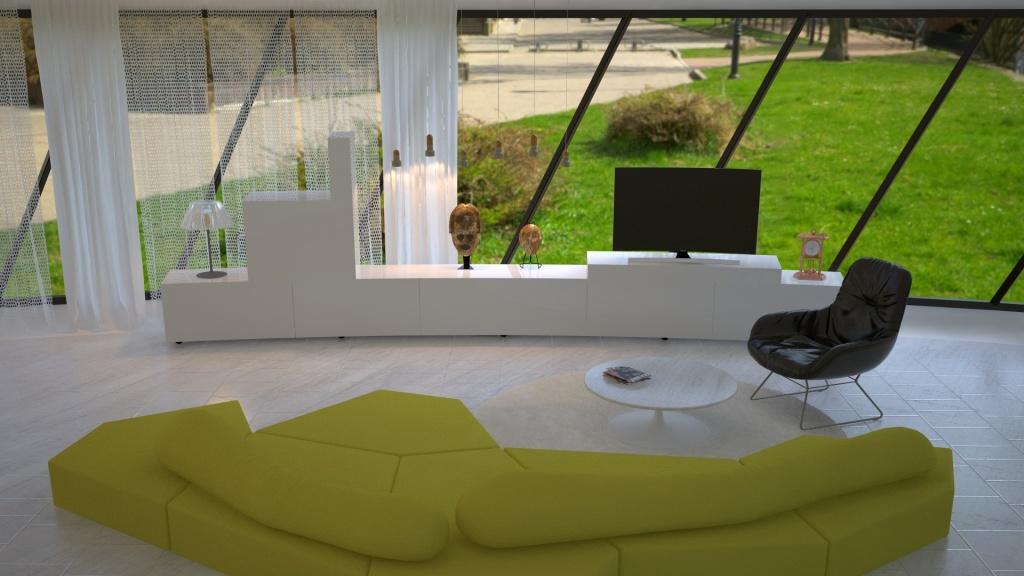 Curved UHD TV дома и в офисе – глазами дизайнеров